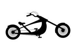 Siluetta della bicicletta isolata su bianco Fotografie Stock