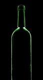 Siluetta della bottiglia di vino Fotografie Stock Libere da Diritti