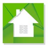 Siluetta della casa da un documento Immagine Stock Libera da Diritti