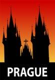 Illustrazione di Praga Immagine Stock