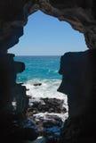 Siluetta della caverna Fotografia Stock Libera da Diritti