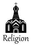 Siluetta della chiesa royalty illustrazione gratis