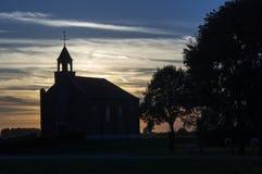Siluetta della chiesa Fotografia Stock Libera da Diritti