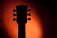 Siluetta della chitarra elettrica fotografia stock libera da diritti