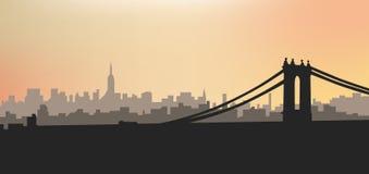 Siluetta della città di sera Siluetta della città al tramonto Fotografia Stock Libera da Diritti