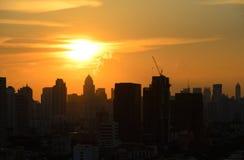 Siluetta della città urbana Fotografie Stock Libere da Diritti
