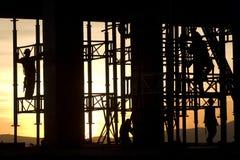 Siluetta della costruzione Immagine Stock Libera da Diritti