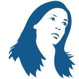 Siluetta della donna Immagini Stock Libere da Diritti