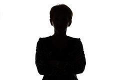 Siluetta della donna adulta Fotografia Stock Libera da Diritti