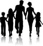 Siluetta della famiglia Fotografie Stock Libere da Diritti