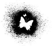 Siluetta della farfalla Fotografia Stock Libera da Diritti