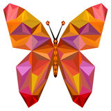 Siluetta della farfalla di Absgtract Fotografia Stock