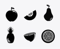 Siluetta della frutta Fotografia Stock Libera da Diritti