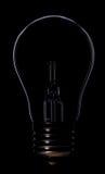 Siluetta della lampada Fotografia Stock Libera da Diritti