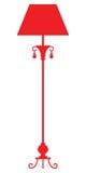 Siluetta della lampada standard Immagini Stock