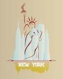Siluetta della libertà della statua royalty illustrazione gratis