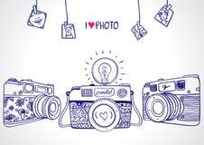 Siluetta della macchina fotografica Fotografie Stock Libere da Diritti