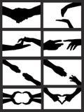Siluetta della mano illustrazione di stock