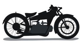 Siluetta della motocicletta Fotografia Stock