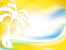 Siluetta della palma Immagini Stock Libere da Diritti