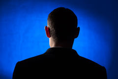 Siluetta della parte posteriore di un uomo Fotografia Stock Libera da Diritti