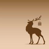 Siluetta della renna Immagini Stock Libere da Diritti