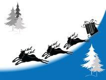 Siluetta della renna Fotografie Stock Libere da Diritti