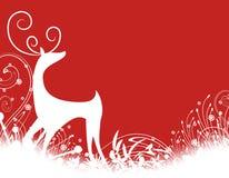 Siluetta della renna Immagini Stock