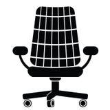 Siluetta della sedia Fotografia Stock