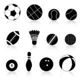 Siluetta della sfera di sport Fotografie Stock