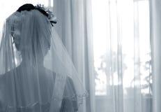 Siluetta della sposa immagini stock