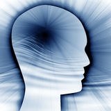 Siluetta della testa umana Immagini Stock