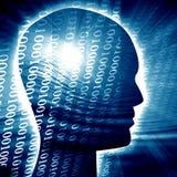 Siluetta della testa umana Immagini Stock Libere da Diritti
