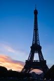 Siluetta della Torre Eiffel Immagine Stock