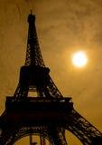Siluetta della torre Eiffel di Parigi Immagini Stock