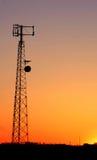 Siluetta della torretta del telefono delle cellule Immagine Stock Libera da Diritti