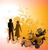 Siluetta delle coppie royalty illustrazione gratis