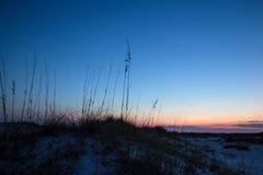 Siluetta delle dune di sabbia Immagini Stock Libere da Diritti