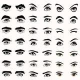 siluetta delle sopracciglia e degli occhi, Fotografie Stock Libere da Diritti