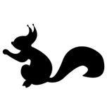 Siluetta dello scoiattolo fotografie stock