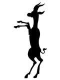 Siluetta di antilope africana Immagini Stock