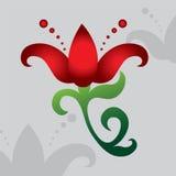 Siluetta di bello fiore Immagine di colore di un fiore del giglio, Fotografia Stock Libera da Diritti