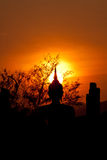 Siluetta di Budda Fotografia Stock Libera da Diritti