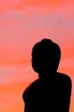 Siluetta di Buddha Fotografie Stock Libere da Diritti