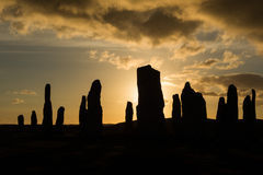Siluetta di Callanish Immagine Stock