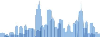 Siluetta di Chicago Fotografia Stock Libera da Diritti