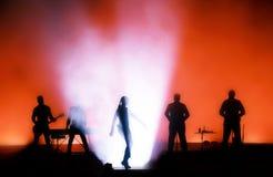 Siluetta di concerto rock Fotografia Stock