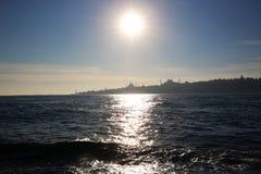 Siluetta di Costantinopoli fotografia stock libera da diritti