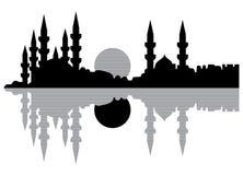 Siluetta di Costantinopoli Immagine Stock