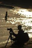 Siluetta di fotographia Fotografia Stock